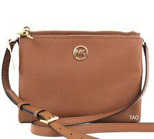 Michael Kors Fulton Large EW Crossbody Bag Handbag Messenger Leather Luggage New