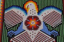 HUICHOL WALL DECOR BEADED PEYOTE MULTICOLOR MEXICAN FOLK ART EAGLE