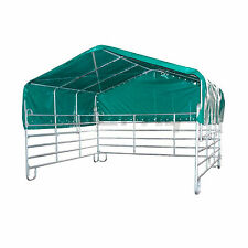 Weidezelt Unterstand Lagerzelt Panel Pferde Sonnenschutz 3,60 x 4 m NEU stabil