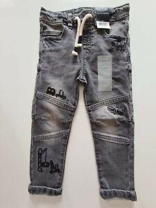 Boys Grey Jeans Age 2-3 Years BNWT