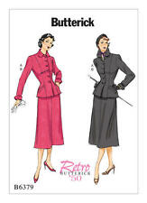 Butterick B6379 Sew Pattern Miss Sz 6-14 Retro 1950 Jacket & Skirt Uncut