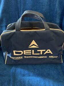VINTAGE RETRO DELTA SOUTHERN TRANSCONTINENTAL AIRLINES carry on crew travel bag