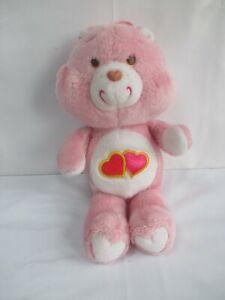 Vintage Care Bears 'Love-a-Lot Bear' 1980s plush soft toy