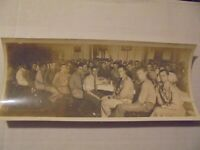 """PRE WW2 PICTURE OF SOLDIERS POSING FOR PICTURE IN MESS HALL 30""""S"""