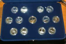 1992 125TH Anniversary of Confederation Mint Proof Set of Silver Quarters.