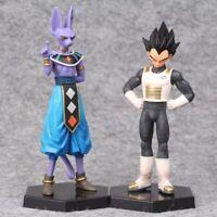 2x Cosplay Anime Dragon Ball Z Beerus Vegeta God Super Saiyan PVC Action Figure