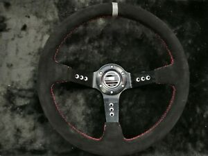 Universal SPAR Steering Wheel 350mm SUEDE DEEP DISH For MO ND UKNEST