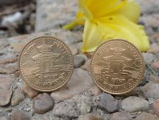 Nepali Rupee Coin Cufflinks -- Coin Money Nepal Jewelry Everest Asian Kathmandu