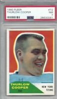 1960 Fleer football card AFL #72 Cooper Thurlow, New York Titans graded PSA 7