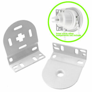 32mm Roller Blind Metal Brackets ONLY - Repair Fitting For Spare Parts - WHITE