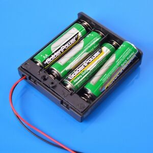 2/3/4 AA Battery Holder Case With Lead Wires High Quality