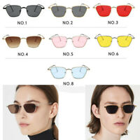 Men Women Metal Small Frame Retro Square Sunglasses Vintage Ladies Sun Glasses