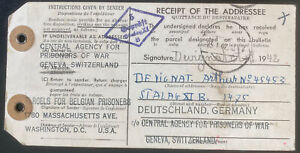 1941 Usa Dispatch Note Tag Label Cover To POW Camp Stalag 11B Germany