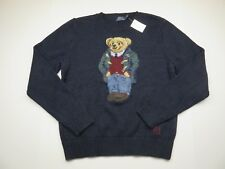 Polo Ralph Lauren Knit Navy Sweater Embroidered Bear NWT Adult Women's Size XL