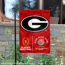 UGA Bulldogs 2017 CFP Semifinal Rose Bowl Game Garden Flag and Yard Banner