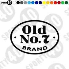 Jack Daniels Old No 7 Brand Oval Sticker Vinyl Decal LARGE Old Time 2112-0220