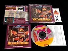 SHERLOCK HOLMES CONSULTING DETECTIVE SEGA MEGA CD PAL COMPLETO BUEN ESTADO