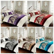 Luxury Scroll Duvet Cover Set Fancy Stylish Pleated Quilt Cover All Size Bedding