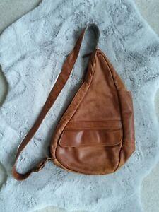 Healthy Back Bag Ameri Bag Womens Shoulder Bag in Leather -  Tan Colour