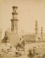 Photo Zangaki Albuminé Egypte Le Caire Vers 1875/80