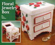FLORAL JEWELRY BOX PLASTIC CANVAS PATTERN INSTRUCTIONS