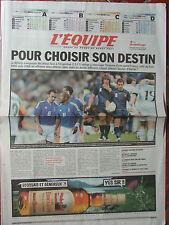 L'Equipe du 10/9/2007 - Coupe du monde de rugby - Après la défaite des Français
