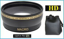 For Olympus E-620 E-520 E-420 Wide Angle 0.43x Hi Def Lens with Macro Lens