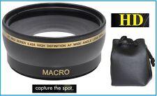 For Olympus E-620 E-520 E-420 Wide Angle 0.43x Hi Def Lens with Macro Lens