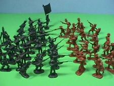 Americana Plastic 1/32 Alamo Texicans And Mexican Army Figures NEW