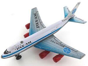 VINTAGE PAN AM BOEING 747 N747PA TINPLATE & PLASTIC LARGISH KOREAN MADE MODEL.