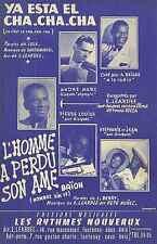 Partitions Accordéon / L'HOMME A PERDU SON ÂME / YA ESTA EL CHA CHA CHA / 1956