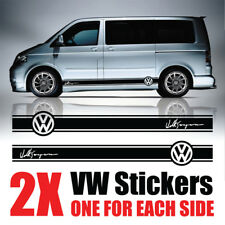 VW Transporter Graphique Rayures Camper Van Signature decals stickers T4 T5 Caddy
