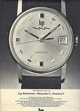 PUBLICITE ADVERTISING  1966   LIP  montre modèle SARAH BERNHARDT