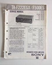 Schema SONY - Service Manual Integrated Stereo Amplifier TA-F222ESX TA-F500ES