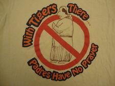 Vintage MLB 80's Detroit Tigers World series padres cartoon 1984 T Shirt M