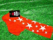 Star Sock Sz 9-11 Custom Orange/white