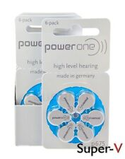 Power One Hearing Aid Batteries PR44, p675, SIZE 675 (60 Pack)