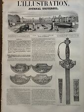 ILLUSTRATION 1845 N 110 EPEE OFFERTE AU MARECHAL BUGEAUD PAR LES COLONS DALGERIE