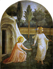 Fra Angelico Noli Me Tangere, 1440, Art Print 10x8 inches reproduction