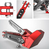 Black + Red Motorcycle Side Stand Holder Adjustable Height Tripod Fall Protector
