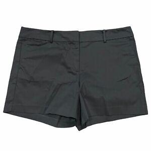 """NWT Ann Taylor 5"""" Shorts Sz 14 Black Stretch #71528"""