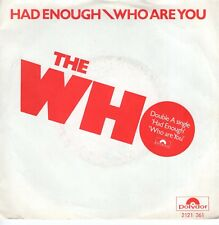 7inch THE WHO	had enough 	HOLLAND 1978 EX (S1994)