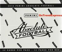 2019 PANINI Absolute NFL Football Sealed FAT PACK Box 12 Packs 240 Trading Cards