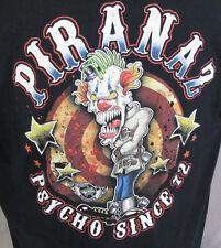 Pirana Z Racing NHRA Racing Clown Psycho Since 72 Black T Tee Shirt Size XL