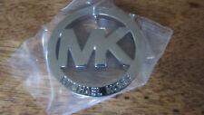 Michael Kors MK Logo Medallion FOB Hang Tag Charm Silver Toned No Leather NEW