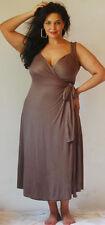 brown maxi dress sexy wrap designer  2X 3X 4X PLUS ZC586