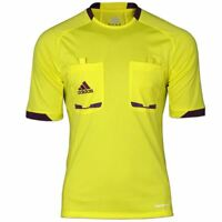 adidas REFEREE 2012 SIZE S XL SHIRT YELLOW FOOTBALL MATCH OFFICIAL TOP LINESMAN