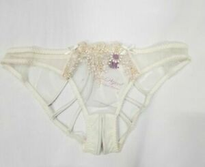 L'Agent by Agent Provocateur Lusina Ouvert Brief Ivory Size LARGE (UK12-14) BNWT