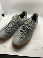 New Adidas Samba Shoes Grey Gold Metallic Mens Shoes Size 9 BD7963
