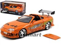 JADA 97168 THE FAST AND FURIOUS BRIAN'S TOYOTA SUPRA 1:24 DIECAST CAR ORANGE